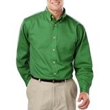 Men's 100% Cotton L/S Twill Shirt Kelly Thumbnail
