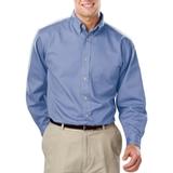 Men's 100% Cotton L/S Twill Shirt Light Blue Thumbnail