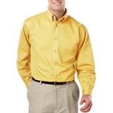 Men's 100% Cotton L/S Twill Shirt Maize Thumbnail