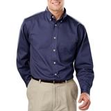 Men's 100% Cotton L/S Twill Shirt Navy Thumbnail