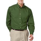 Men's 100% Cotton L/S Twill Shirt Olive Thumbnail