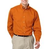 Men's 100% Cotton L/S Twill Shirt Orange Thumbnail