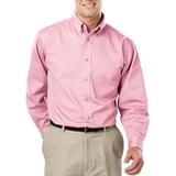 Men's 100% Cotton L/S Twill Shirt Pink Thumbnail