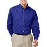 Men's 100% Cotton L/S Twill Shirt Royal Thumbnail