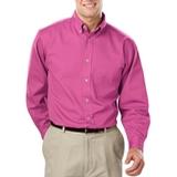 Men's 100% Cotton L/S Twill Shirt Sangria Thumbnail