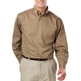 Men's 100% Cotton L/S Twill Shirt Tan Thumbnail