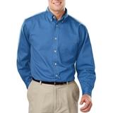 Men's 100% Cotton L/S Twill Shirt Turquoise Thumbnail