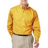 Men's 100% Cotton L/S Twill Shirt Yellow Thumbnail