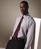 Men's Pinpoint Oxford Shirt LS White Thumbnail
