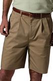 Men's Pleated Short Tan Thumbnail