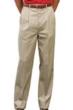 Men's Pleated Uniform Pant Tan Thumbnail