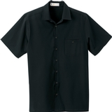 Men's Poly Stretch Woven Shirt With U. V. Protection Black Thumbnail