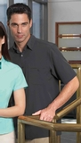 Men's Poly Stretch Woven Shirt With U. V. Protection Thumbnail