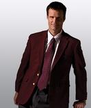Men's Poly / Wool Hopsack Blazer Navy Thumbnail