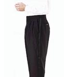 Men's Polyester Tuxedo Pant Black Thumbnail