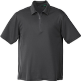 Men's Recycled Polyester/ Performance Polyester Zipped Polo Black Silk Thumbnail