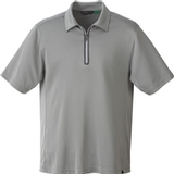 Men's Recycled Polyester/ Performance Polyester Zipped Polo Concrete Thumbnail