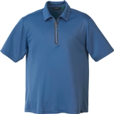 Men's Recycled Polyester/ Performance Polyester Zipped Polo Dutch Blue Thumbnail