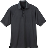 Men's Recycled Polyester Performance Waffle Polo Shirt Black Silk Thumbnail