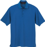 Men's Recycled Polyester Performance Waffle Polo Shirt Nautical Blue Thumbnail