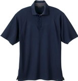 Men's Recycled Polyester Performance Waffle Polo Shirt Night Thumbnail