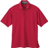 Men's Recycled Polyester Performance Waffle Polo Shirt Olympic Red Thumbnail