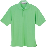 Men's Recycled Polyester Performance Waffle Polo Shirt Spring Green Thumbnail