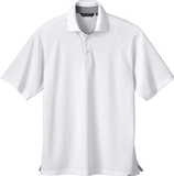 Men's Recycled Polyester Performance Waffle Polo Shirt White Thumbnail