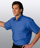 Men's Short Sleeve Cafe Shirt White Thumbnail