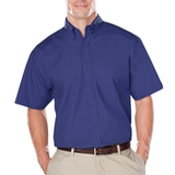 Men's Short Sleeve Easy Care Poplin With Matching Buttons Thumbnail