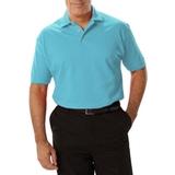 Men's Short Sleeve Pique Polo Shirt Aqua Thumbnail
