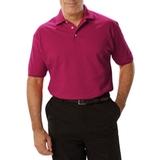 Men's Short Sleeve Pique Polo Shirt Berry Thumbnail