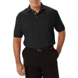 Men's Short Sleeve Pique Polo Shirt Black Thumbnail