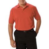 Men's Short Sleeve Pique Polo Shirt Coral Thumbnail