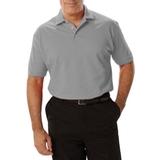 Men's Short Sleeve Pique Polo Shirt Grey Thumbnail