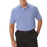 Men's Short Sleeve Pique Polo Shirt Light Blue Thumbnail