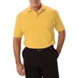 Men's Short Sleeve Pique Polo Shirt Maize Thumbnail