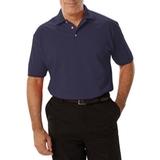Men's Short Sleeve Pique Polo Shirt Navy Thumbnail