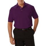 Men's Short Sleeve Pique Polo Shirt Purple Thumbnail