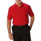 Men's Short Sleeve Pique Polo Shirt Red Thumbnail