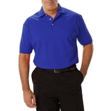 Men's Short Sleeve Pique Polo Shirt Royal Thumbnail