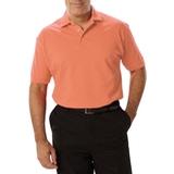 Men's Short Sleeve Pique Polo Shirt Salmon Thumbnail