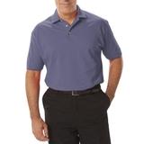 Men's Short Sleeve Pique Polo Shirt Slate Blue Thumbnail