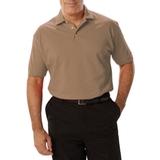 Men's Short Sleeve Pique Polo Shirt Tan Thumbnail