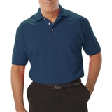 Men's Short Sleeve Pique Polo Shirt Teal Thumbnail