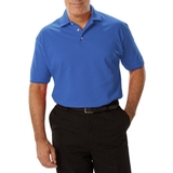 Men's Short Sleeve Pique Polo Shirt Turquoise Thumbnail