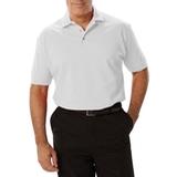 Men's Short Sleeve Pique Polo Shirt White Thumbnail