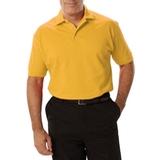 Men's Short Sleeve Pique Polo Shirt Yellow Thumbnail
