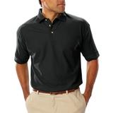 Men's Short Sleeve Teflon Treated Pique Polo Black Thumbnail