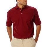 Men's Short Sleeve Teflon Treated Pique Polo Burgundy Thumbnail